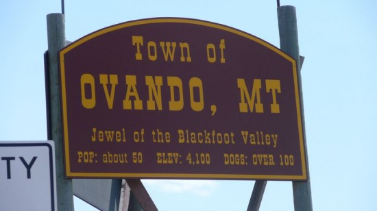 Ovando - more dogs than people and home to the best sandwiches on the Great Divide Trail