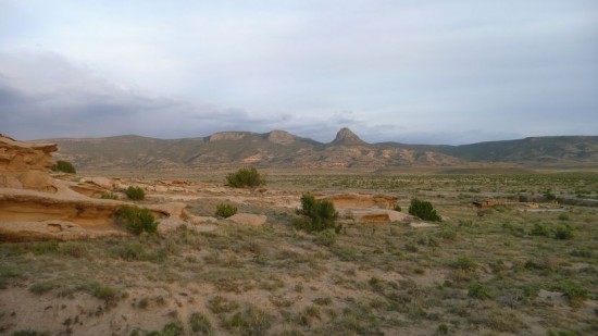 The view from our desert camp site
